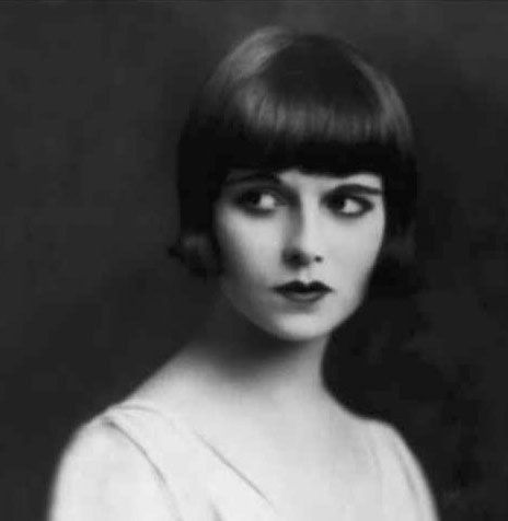 As well as being an utterly gorgeous triple threat, Louise Brooks was also a star of numerous silent films, and apparently singlehandedly popularized the bob haircut. It sure did look good on her!: