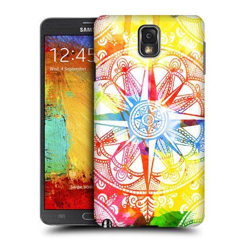 Head Case Designs Watercolour Compass Design for Samsung Galaxy Note 3 N9000 N9002 N9005