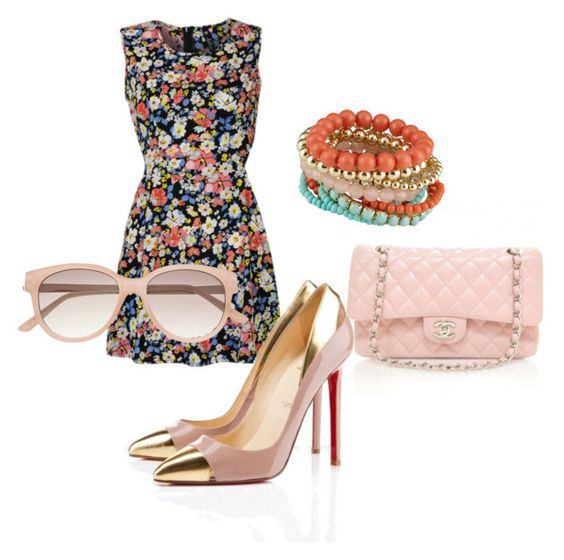 """Spring Time"" by dizzyheadfrizzyhair on Polyvore featuring Influence, Chanel, Christian Louboutin and Witchery"