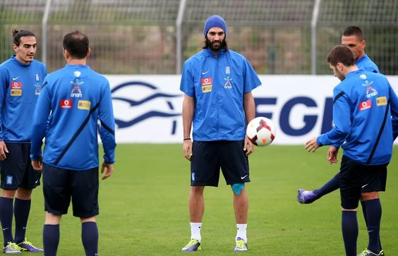 Greek National Team's practice for tonight's soccer match ~ Εικόνα από την προπόνηση της Εθνικής για τον αποψινό παιχνίδι