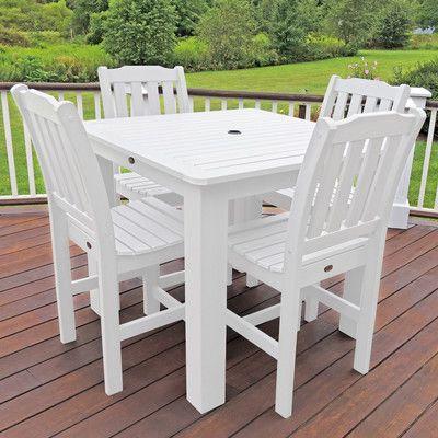 Lehigh 5 Piece Bar Height Dining Set Finish: White - http://diningsetspot.com/lehigh-5-piece-bar-height-dining-set-finish-white-641693510/