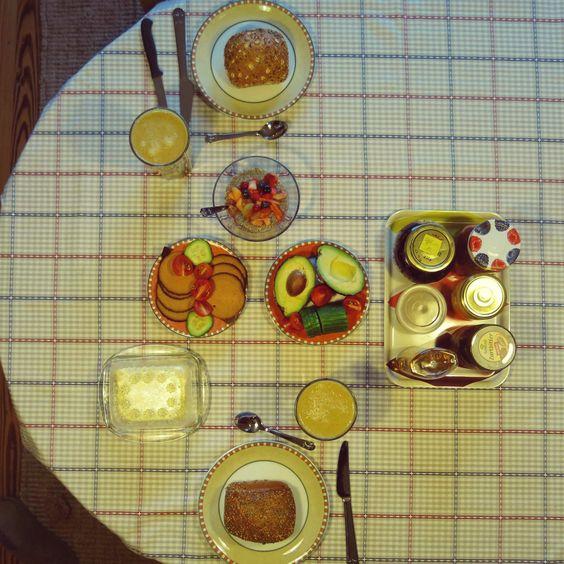 Den Morgen des zweiten Weihnachtsfeiertages verbrachte Swanni mit Freunden und einem großen veganen Frühstück.