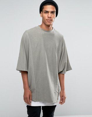 ASOS Oversized Longline Sweatshirt With Reverse Loopback Panels
