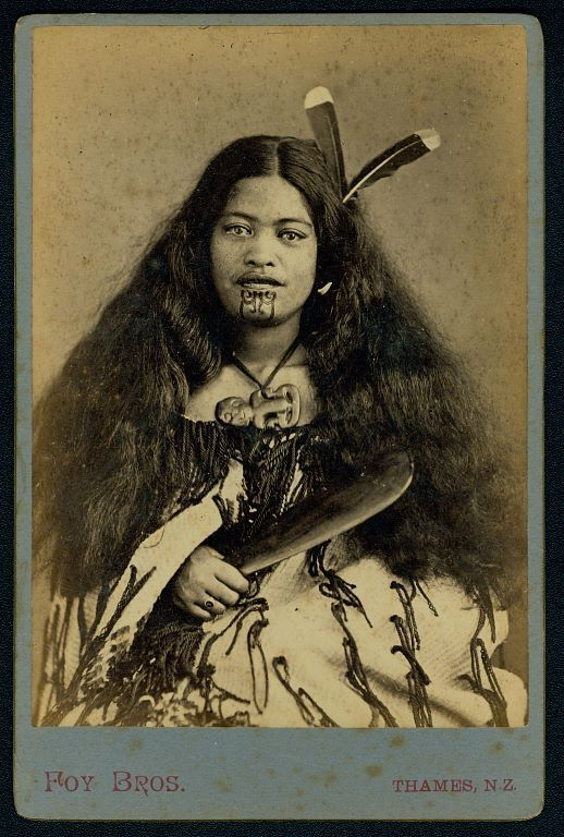 19th century portrait from New Zealand: For Maori peoples, Tā moko represents a person's mana (status or power) in society. The Moko Kauae  is a chin tattoo traditional reserved for Māori women with mana (high status and power). More at the link.