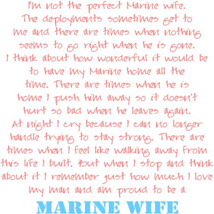 USMC wife. The hardest yet best love is with a Marine.