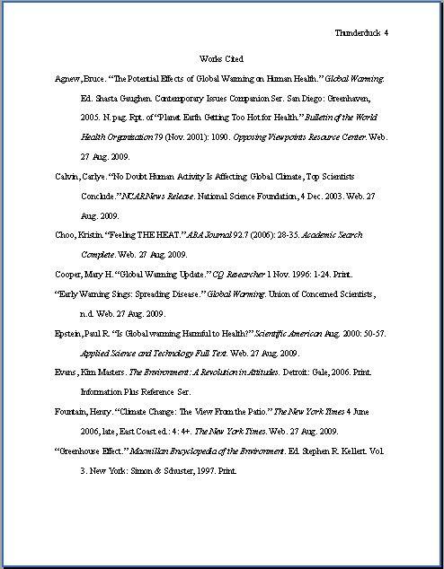 Works Cited Sample Page Mla Format Mla Mla Citation
