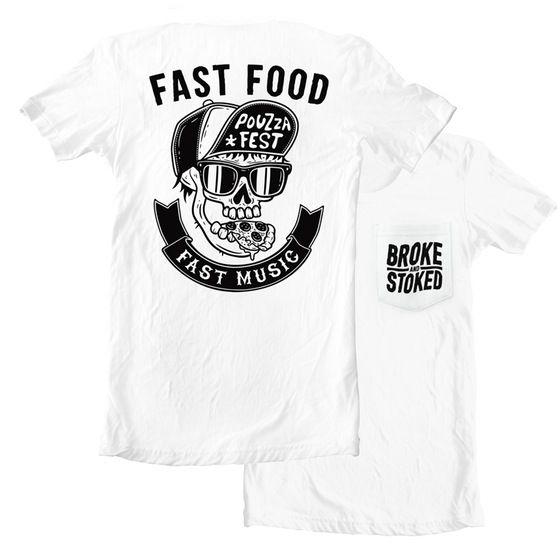 Image of FAST FOOD FAST MUSIC POCKET TEE - PRESALE
