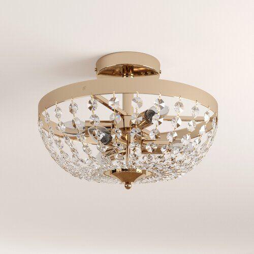 6 Light Semi Flush Ceiling Light House Additions Size 28cm H X 40cm W X 40cm D Finish Chrome In 2020 Ceiling Lights Semi Flush Ceiling Lights Bedroom Lighting