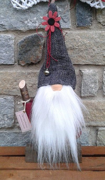 Inspiration you can buy it. Doorstop GILDO gnome house keeper, handmade. Sometimes, I think it's just best to buy.