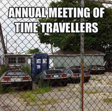 #DoctorWho #BackToTheFuture: Doctorwho, Time Travellers, The Doctor, Doctor Who, Funny Stuff, Dr. Who, Back To The Future, Annual Meeting