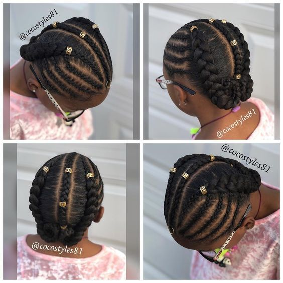 12 Easy Winter Protective Natural Hairstyles For Kids Kids Braided Hairstyles Natural Hair Styles Natural Hairstyles For Kids