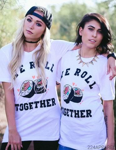 Big Little We Roll Together Sushi Tee