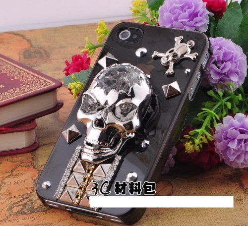 DIY 3D Bling Cell Phone Case Deco Kit skulls n studs amazon