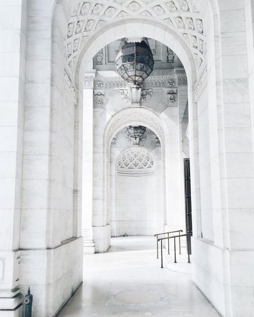 foreverchampagneiglikes: New York Public Library is so gorgeous! Could spend hours exploring here 🔍 #wanderlust #nyc #architecture #marble #vscocam #iphone6 by lacewings http://ift.tt/1Nay9qd