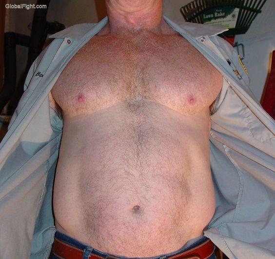 trucker daddy removing shirt