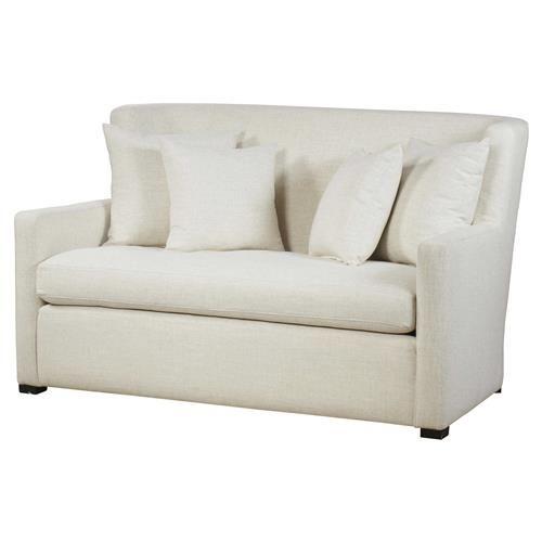 Maison 55 Payton Modern Classic White Upholstered Wood Loveseat Settee Love Seat Modern Classic Traditional Loveseat