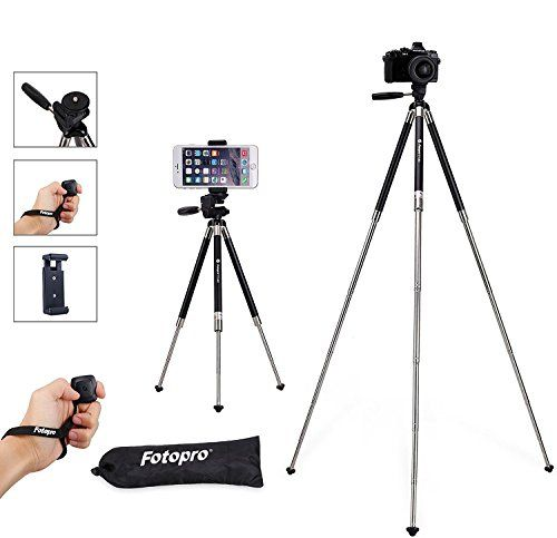 Fotopro Iphone Tripod 39 5 Inch Aluminum Camera Tripod With
