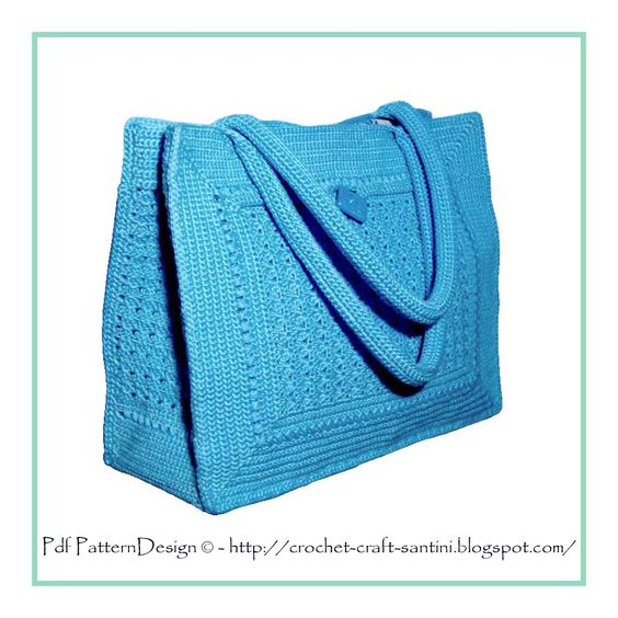 Crochet Bag With Pockets Pattern : Crochet bag patterns, Crochet bags and Bag patterns on ...