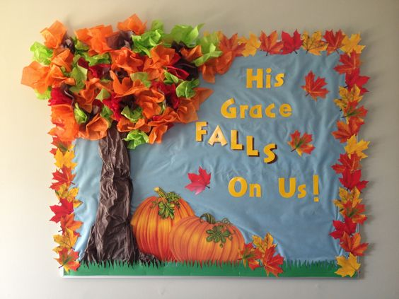 Fall Bulletin Board. Copied the words from another post.