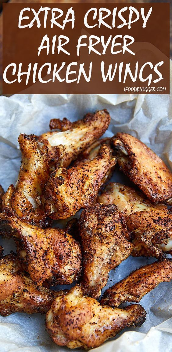 Extra Crispy Air Fryer Chicken Wings #chickenwings #chickenfoodrecipes