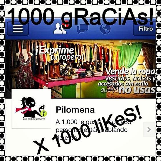 Celebrando los primeros 1000 likes de Pilomena en Facebook!!