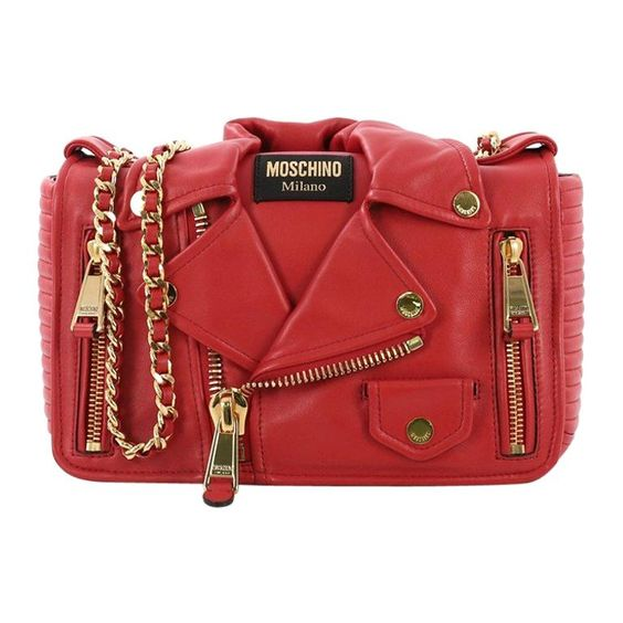 Moschino Biker Bag Leather Medium | Moschino bag, Leather