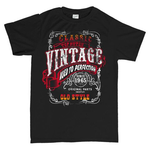 Vintage Aged To Perfection 1965 - Distressed - 50th Birthday T-shirt