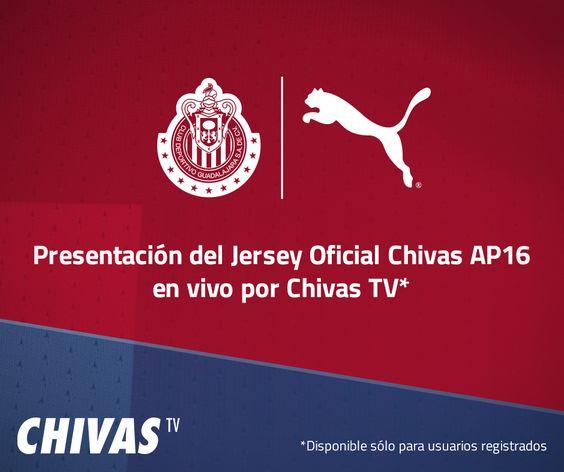 CHIVAS PRESENTARÁ SU NUEVO UNIFORME POR CHIVAS TV El evento será gratuito. Guadalajara está invitando a todos los que quieran ver la presentación de la nueva playera por Chivas TV, a que se registren, como requisito.