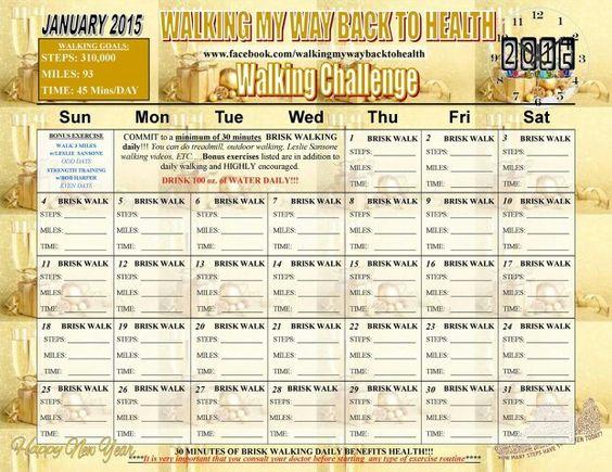 January 2015 Walking Challenge