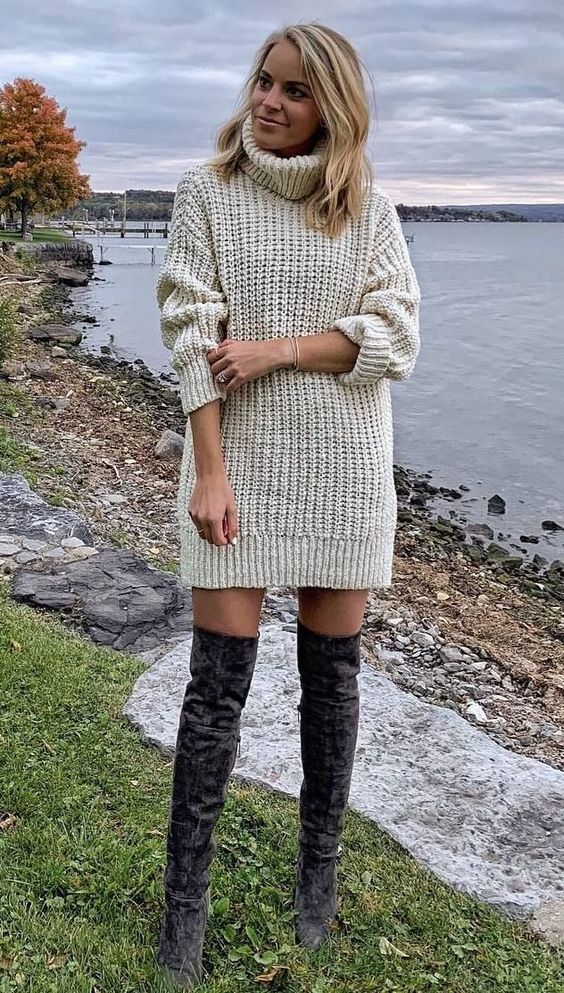 Pretty Sweater Dresses