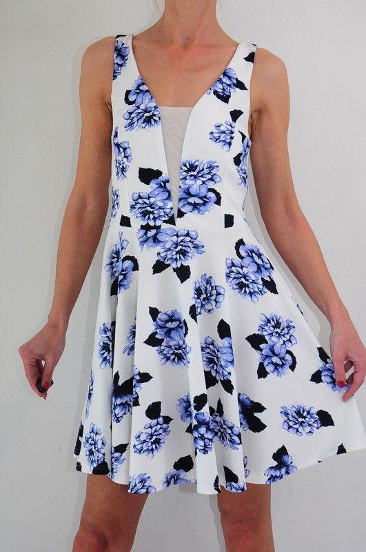 Sukienka Jasno Kremowa Kwiaty R 38 New Look Vinted Dresses Fashion Graduation Dress