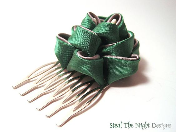 Slytherin Pfingstrose Hair Ornament