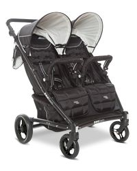 """Valco Baby Zee Two $550 // Adjustable handlebar (30.5-43""""), peekaboo windows, large canopies, large accessible under basket, adjustable footrests, recline suitable for infants, can add Joey seat or hitchhiker stand, 45 pound limit per seat, 26.8 pounds, 29.5"""" wide."""