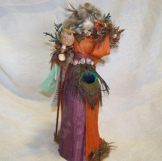 Wingshuck Corn Shuck Doll - Woodswoman