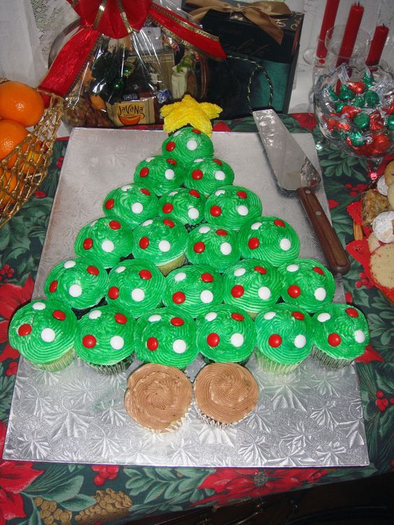 Cupcake Decorating Christmas Tree : Christmas tree cupcakes, Cupcake cakes and Christmas trees ...