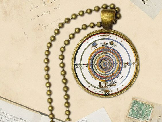 Mandala pendant sacred geometry jewelry spiritual necklace
