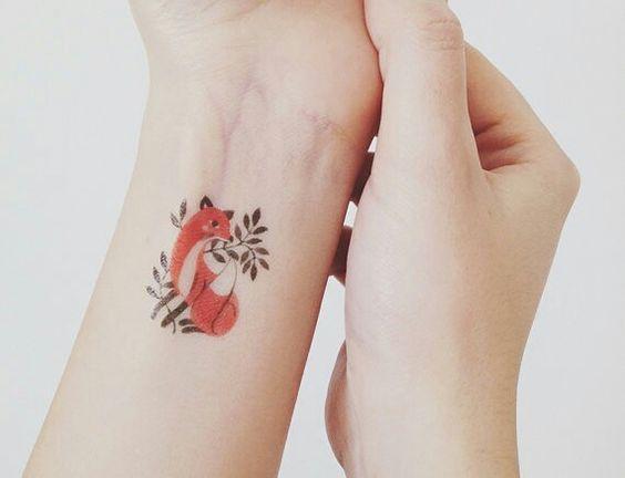 Kleines Fuchs Tattoo