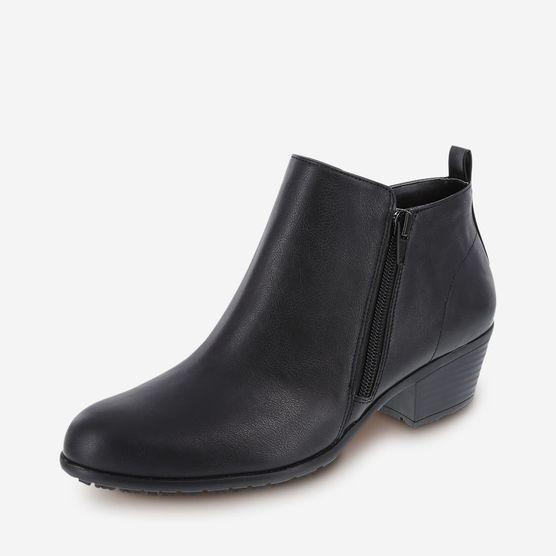 Slip-Resistant Brenna Short Boot, Black