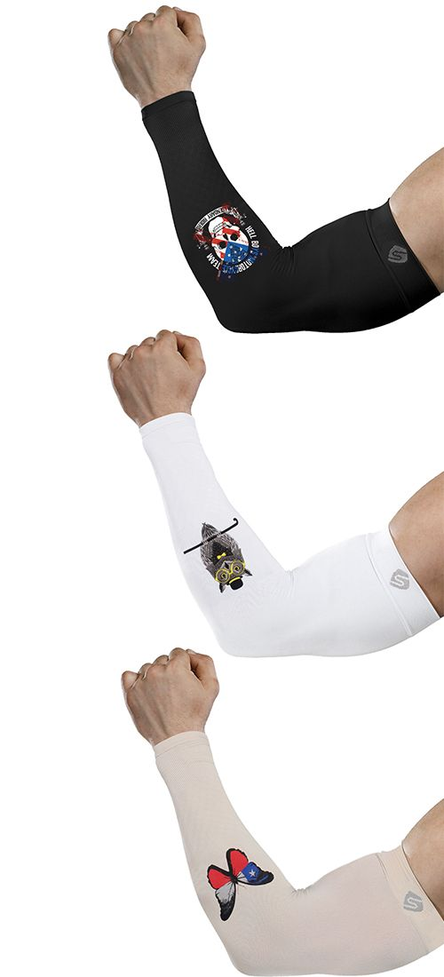 Shinymod Pattern Cooling Sleeves For Driving Baseball Golfing Outdoor Sports Baseball Arm Sleeves Arm Sleeve Sleeves