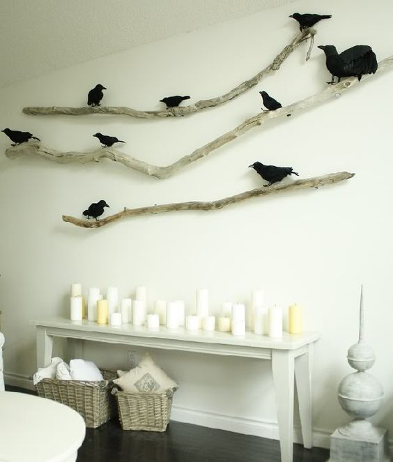 I have a stick just like those with the birds on them.  Why oh why have I never put it on the wall? Now I think I will.
