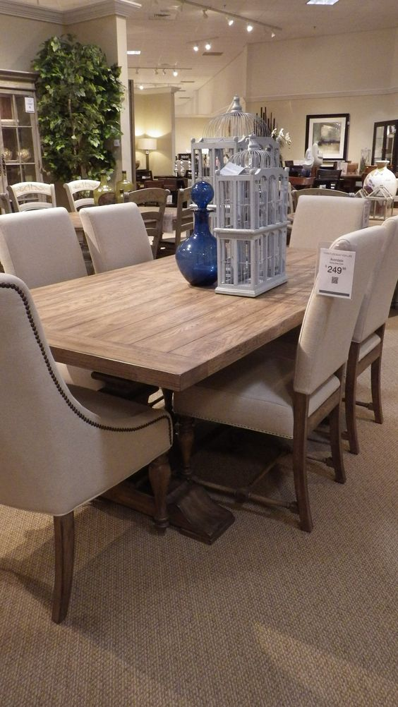 Tables on pinterest for Dining room tables havertys
