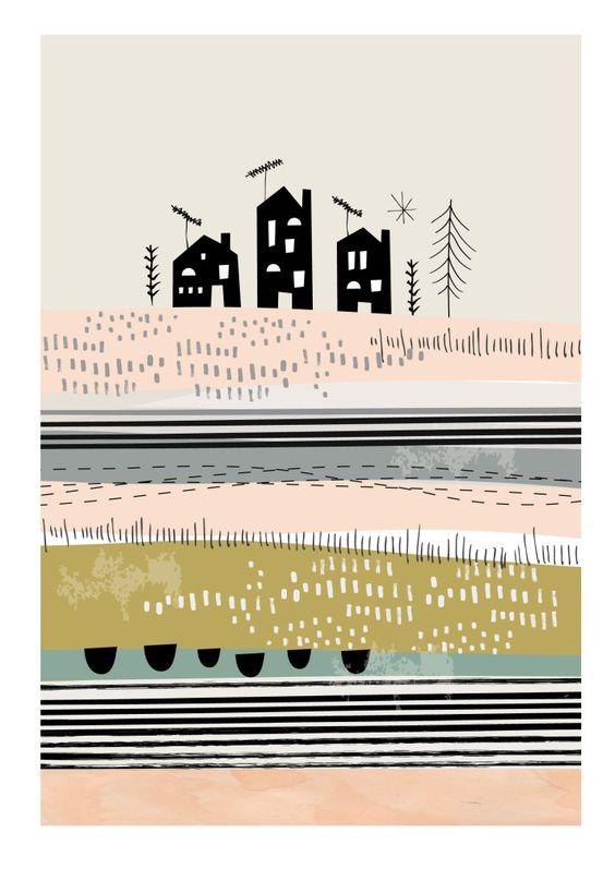 Vous le savez maintenant, chez Picslovin on adore tout ce qui s'inspire de l'univers scandinave… Aujourd'hui j'ai fait une jolie découverte : les illustrations Papermoon. Imaginées et crées par Nicola Davidson, un illustrateur basé à Londres, ces affiches poétiques d'inspiration scandinave, toutes dans des teintes pastel, seront parfaites aussi bien pour décorer une chambre d'enfant que pour l'ensemble de notre intérieur. Tout ce que j'aime ! Pour en voir + c'est ici… Sur le même thème