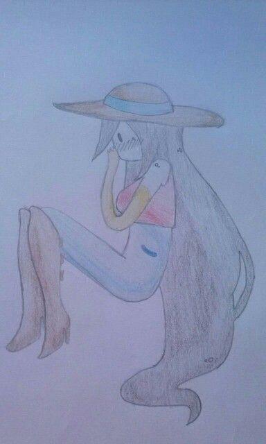 Quede con una amiga en hacer uno ella y uno yo, y este es el mio. Marceline es mi personaje favorito ^w^