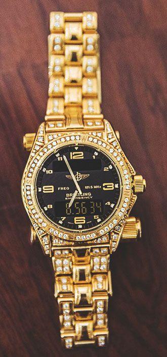 #Breitling #Emergency Diamond and Gold watch http://www.swisswatchbuyer.co.uk   juwelier-haeger.de