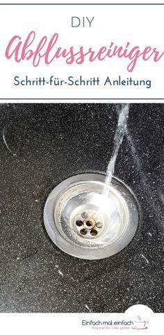 Diy Abflussreiniger Abfluss Kuche Reinigen Backpulver Und Essig