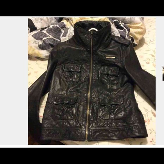 🆕Superdry Megan leather jacket This jacket is absolutely gorgeous, SUPERDRY MEGAN REAL LEATHER and BRAND NEW superdry Jackets & Coats