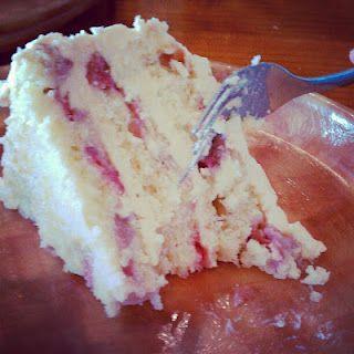 Triple Layer Strawberry Citrus Cake
