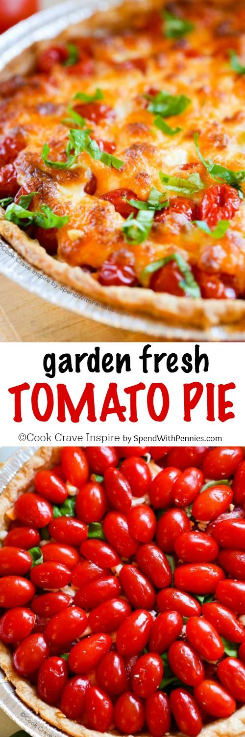Tomato Pie! If your garden is overloaded with tomatoes this tomato pie ...