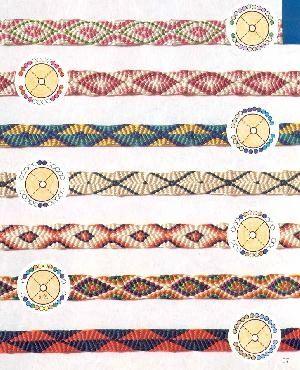PATRONES: Idea, Flat Patterns, Flat Kumihimo Patterns, Naked, Bag, Patterns Circular, Beading Kumihimo, Friendship Bracelets, Kumihimo Designs