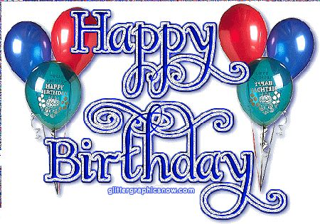 cartoon birthday banner | ... Myspace Glitter Graphics - Happy Birthday Glitters - Myspace Comments